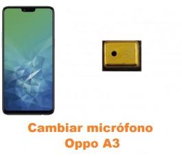 Cambiar micrófono Oppo A3