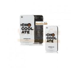 Carcasa trasera, tapa de batería letras chocolate para iPhone 4