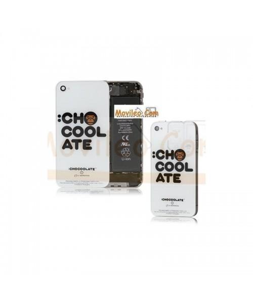 Carcasa trasera, tapa de batería letras chocolate para iPhone 4 - Imagen 1
