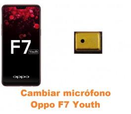 Cambiar micrófono Oppo F7...