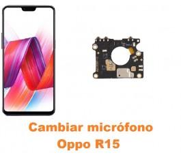 Cambiar micrófono Oppo R15