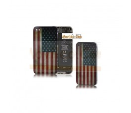 Carcasa trasera, tapa de batería bandera America para iPhone 4 - Imagen 1