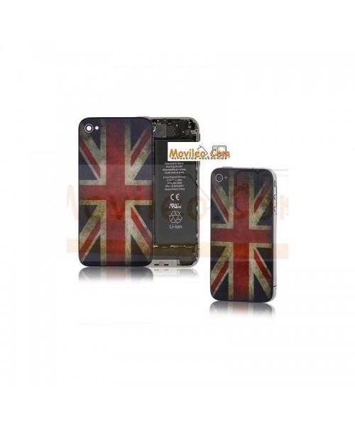 Carcasa trasera, tapa de batería bandera Reino Unido para iPhone 4 - Imagen 1