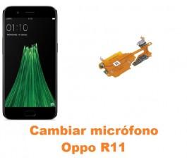 Cambiar micrófono Oppo R11