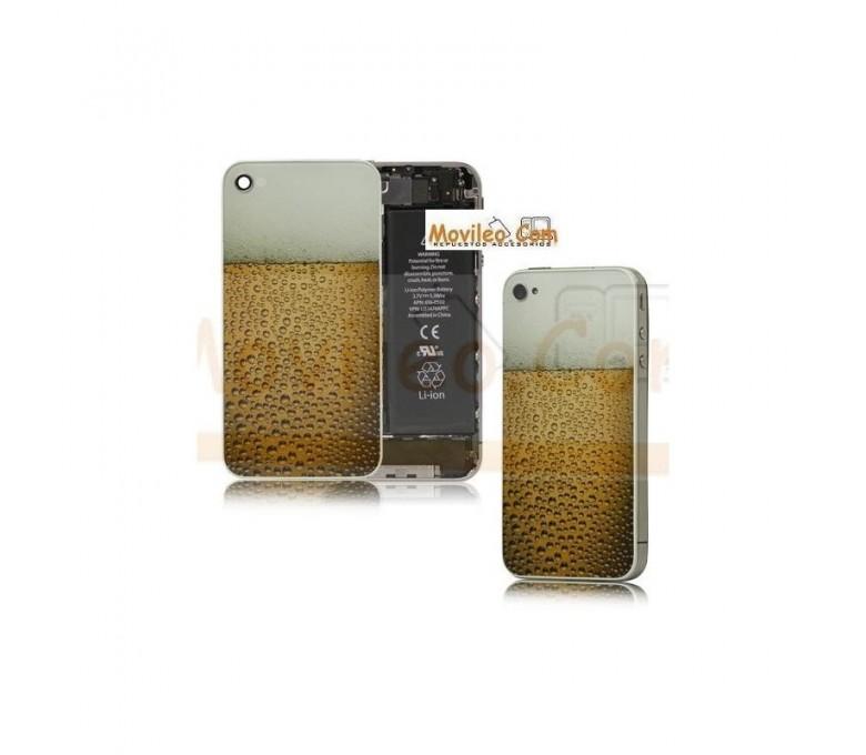 Carcasa trasera, tapa de batería modelo cerveza para iPhone 4 - Imagen 1