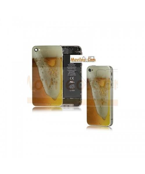 Carcasa trasera, tapa de batería modelo cerveza 2 para iPhone 4 - Imagen 1