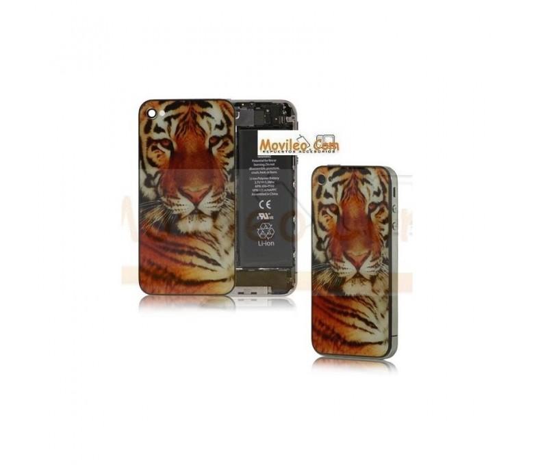 Carcasa trasera, tapa de batería modelo tigre 2 para iPhone 4 - Imagen 1