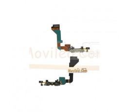 Flex Conector de carga  microfono y accesorios para iPhone 4g blanco - Imagen 1