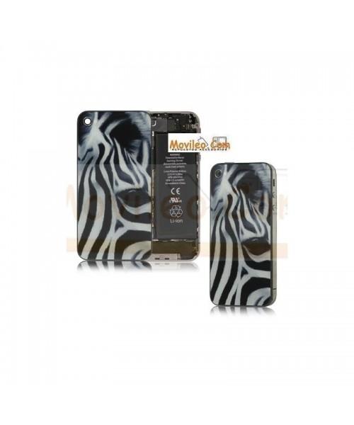 Carcasa trasera, tapa de batería zebra para iPhone 4 - Imagen 1