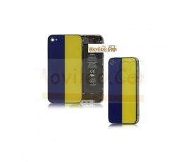 Carcasa trasera, tapa de batería bandera Ucrania para iPhone 4