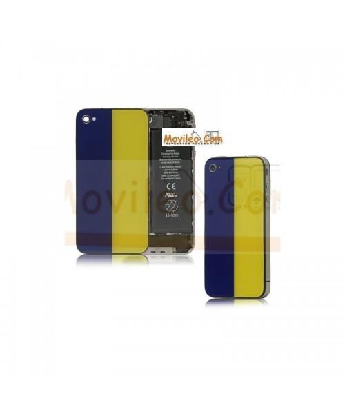 Carcasa trasera, tapa de batería bandera Ucrania para iPhone 4 - Imagen 1