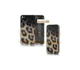 Carcasa trasera, tapa de batería modelo leopardo para iPhone 4