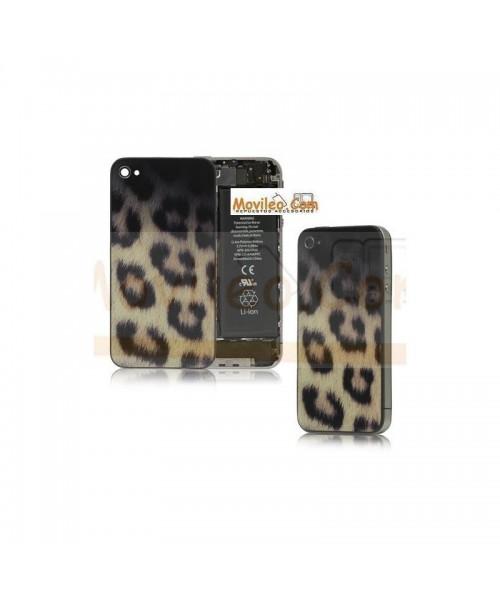 Carcasa trasera, tapa de batería modelo leopardo para iPhone 4 - Imagen 1