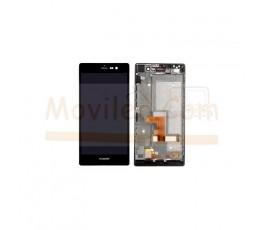 Pantalla Completa Con Marco para Huawei Ascend P7 Negra - Imagen 1