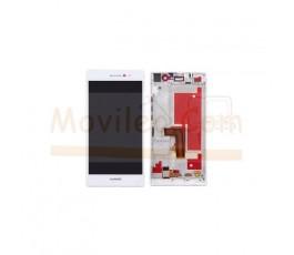 Pantalla Completa Con Marco para Huawei Ascend P7 Blanca - Imagen 1