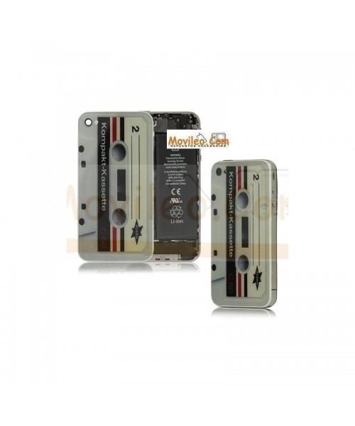 Carcasa trasera, tapa de batería cinta de cassette para iPhone 4 - Imagen 1