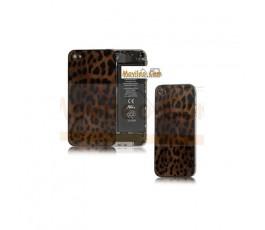 Carcasa trasera, tapa de batería modelo leopardo 2 para iPhone 4
