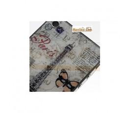Carcasa trasera, tapa de batería torre Eiffel con mariposas para iPhone 4 - Imagen 2