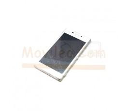 Pantalla completa táctil lcd y marco Sony Xperia M2 Blanco - Imagen 1