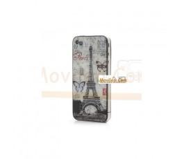 Carcasa trasera, tapa de batería torre Eiffel con mariposas para iPhone 4 - Imagen 3