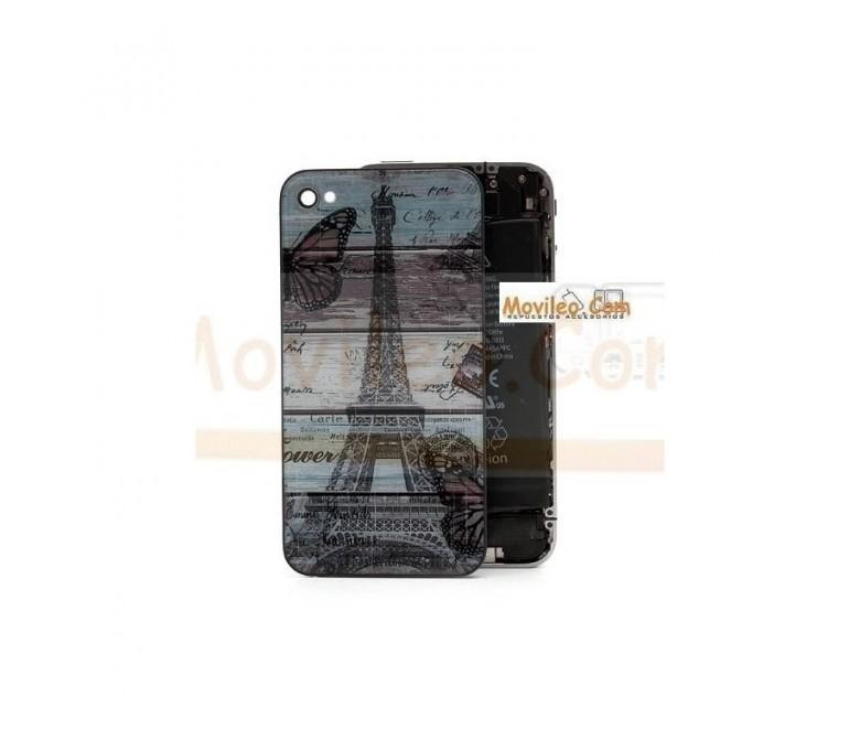 Carcasa trasera, tapa de batería torre Eiffel para iPhone 4 - Imagen 1