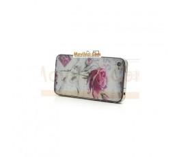 Carcasa trasera, tapa de batería con rosa para iPhone 4 - Imagen 3