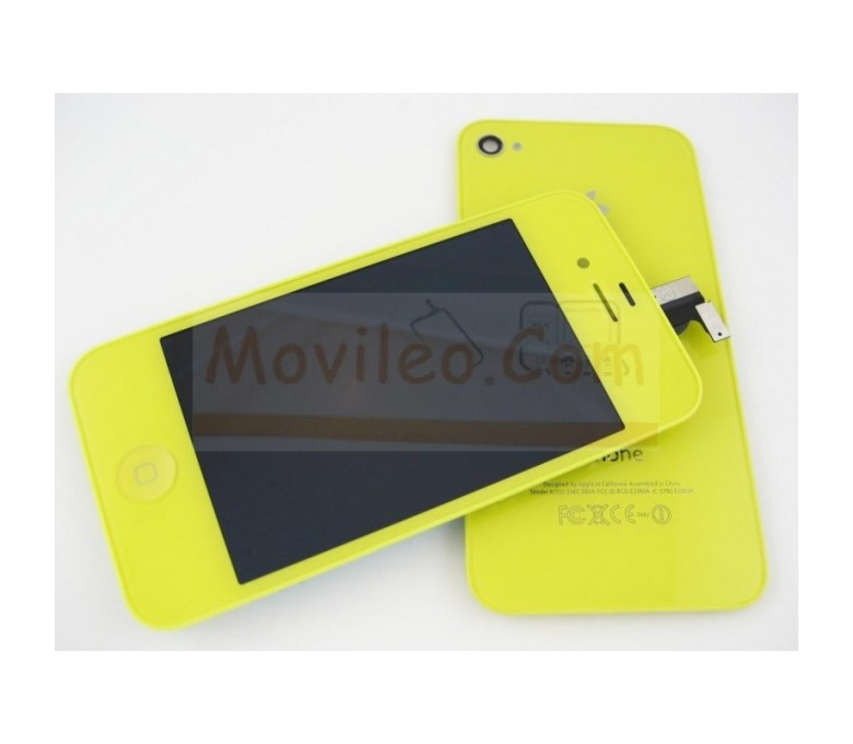 Kit Completo Amarillo iPhone 4G, Pantalla + Tapa + Botón home - Imagen 1