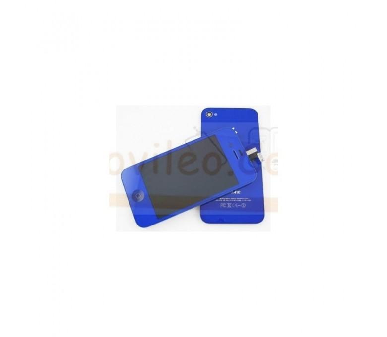 Kit Completo Azul iPhone 4G Pantalla + Tapa + Botón home - Imagen 1