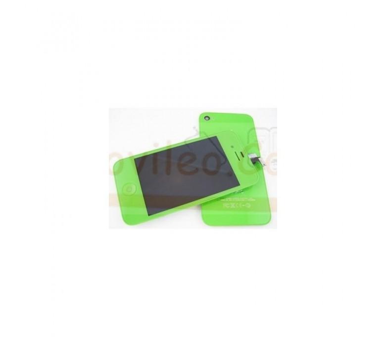 Kit Completo Verde iPhone 4G Pantalla + Tapa + Botón home - Imagen 1