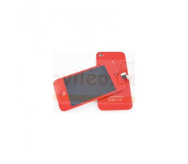 Kit Completo Rojo iPhone 4G Pantalla + Tapa + Botón home - Imagen 1