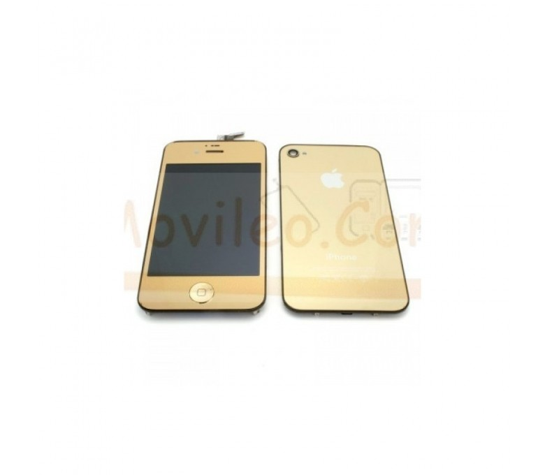 Kit Completo Oro iPhone 4G Pantalla + Tapa + Botón home - Imagen 1