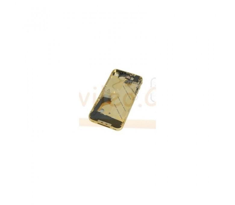 Chasis Completo Dorado iPhone 4 con repuestos instalados - Imagen 1