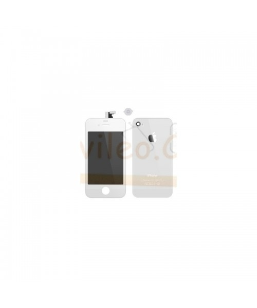 Kit Completo Blanco iPhone 4, Pantalla + Tapa + Boton Home - Imagen 1