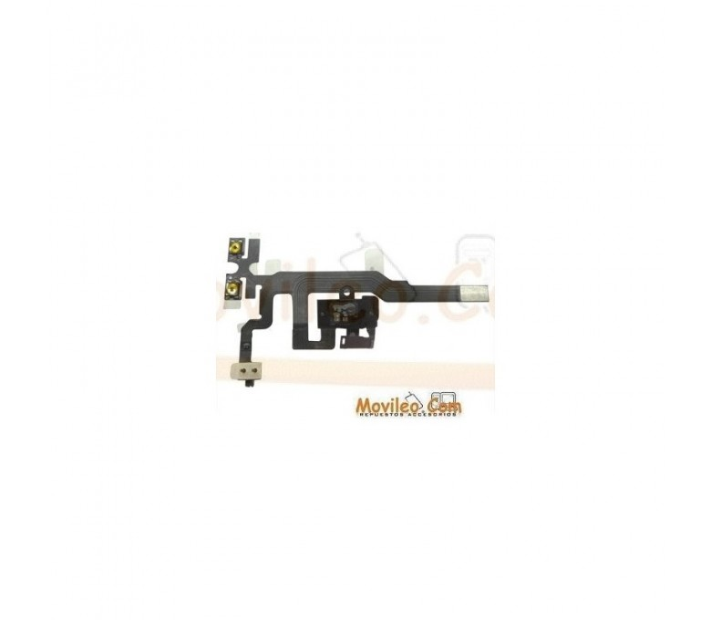 Cable flex con conector de auriculares jack negro interruptores de volumen y micrófono para Apple iPhone 4S - Imagen 1