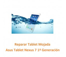 Reparar Tablet Mojada Asus...