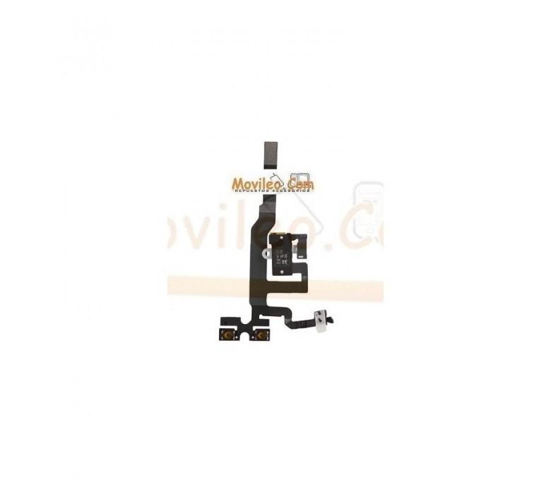 Cable flex con conector de auriculares jack blanco interruptores de volumen y micrófono para Apple iPhone 4S - Imagen 1