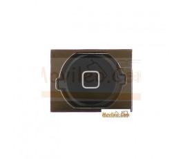 Botón de menú home completo negro para iPhone 4S