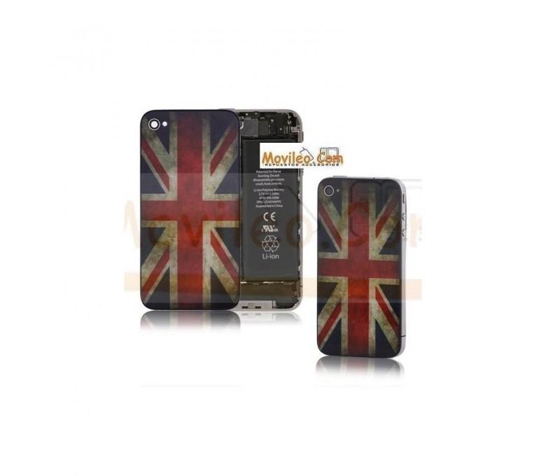Carcasa trasera tapa de batería bandera Reino Unido para iPhone 4s - Imagen 1