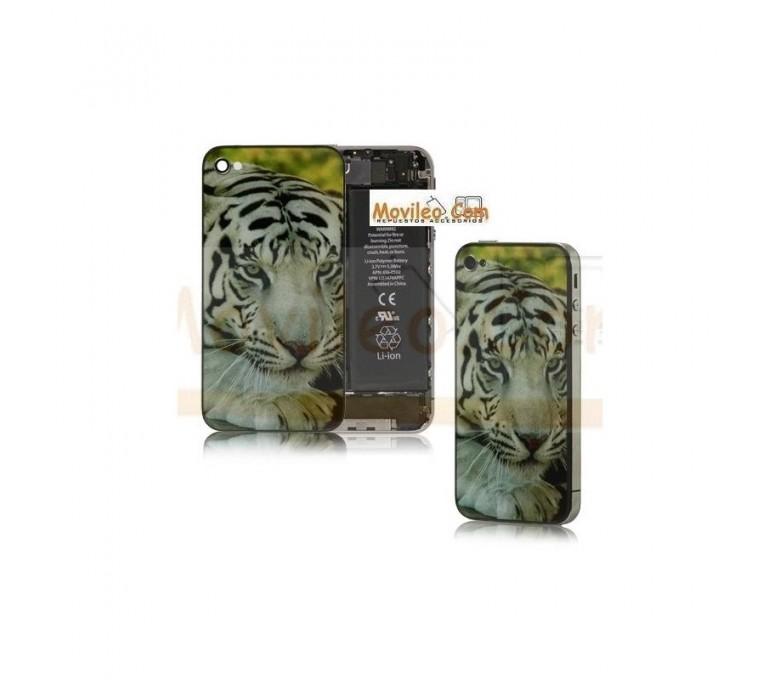 Carcasa trasera tapa de batería modelo tigre para iPhone 4S - Imagen 1