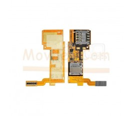 Flex Lector Tarjeta Sim y MicroSD para Lg Optimus G Pro E980 E988 - Imagen 1