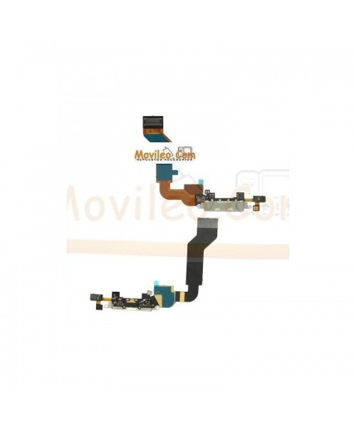 Cable flex con Conector de carga y accesorios blanco para Apple iPhone 4S - Imagen 1