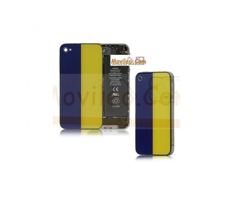 Carcasa trasera tapa de batería bandera Ucrania para iPhone 4s - Imagen 1