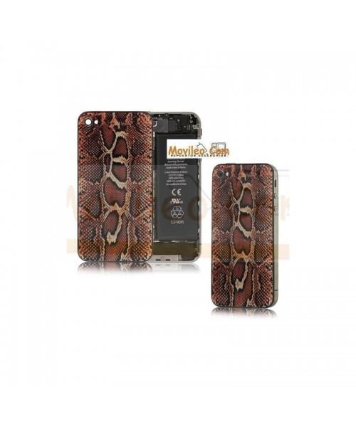 Carcasa trasera tapa de batería modelo serpiente para iPhone 4s - Imagen 1