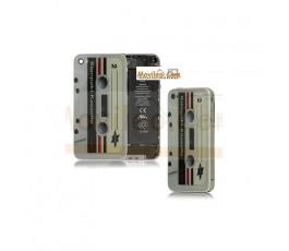 Carcasa trasera tapa de batería cinta de cassette para iPhone 4s