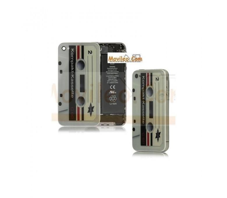 Carcasa trasera tapa de batería cinta de cassette para iPhone 4s - Imagen 1