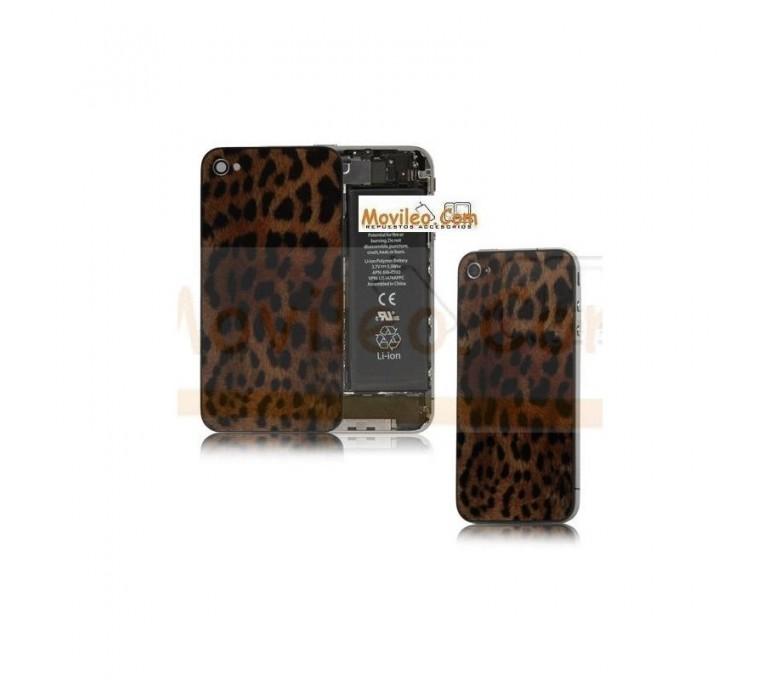 Carcasa trasera tapa de batería modelo leopardo 2 para iPhone 4s - Imagen 1