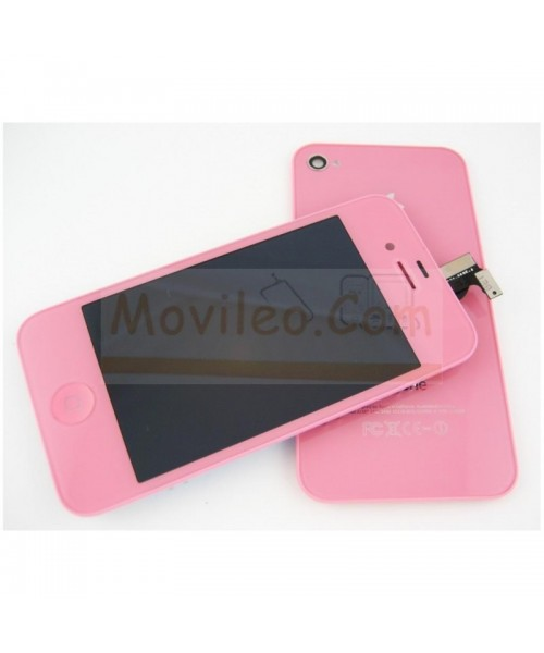 Kit Completo Rosa iPhone 4S Pantalla + Tapa + Botón home - Imagen 1