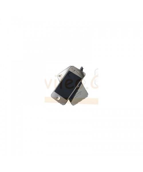Kit Completo Plata iPhone 4S Pantalla + Tapa + Botón home - Imagen 1