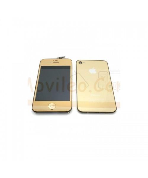 Kit Completo Oro iPhone 4S Pantalla + Tapa + Botón home - Imagen 1