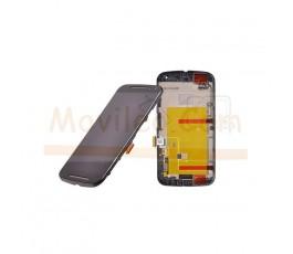 Pantalla Completa táctil lcd y marco para Motorola Moto G2 Negra - Imagen 1
